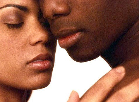 black couple intimacy