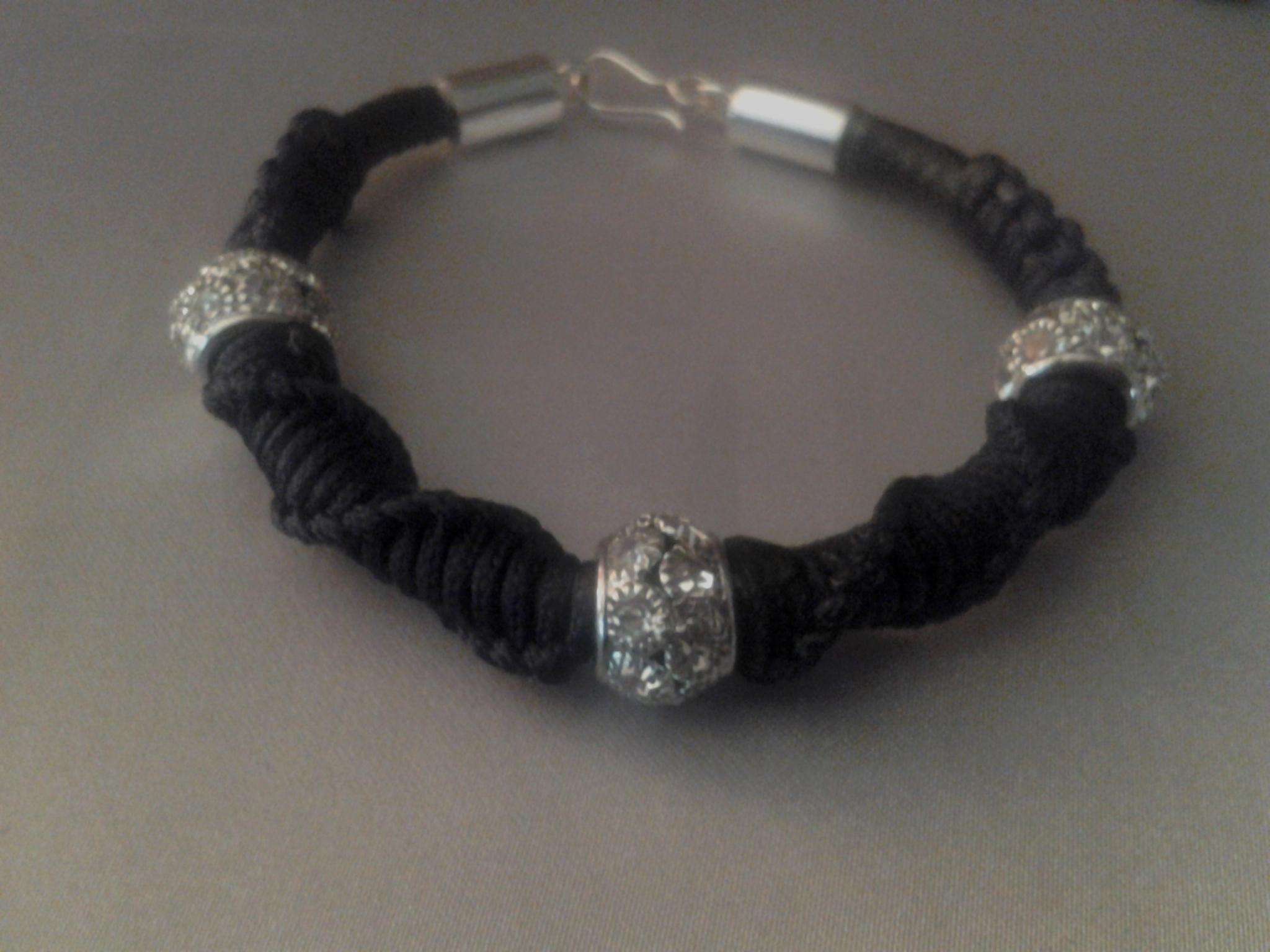 Leather and Macrame Shambella Bracelet